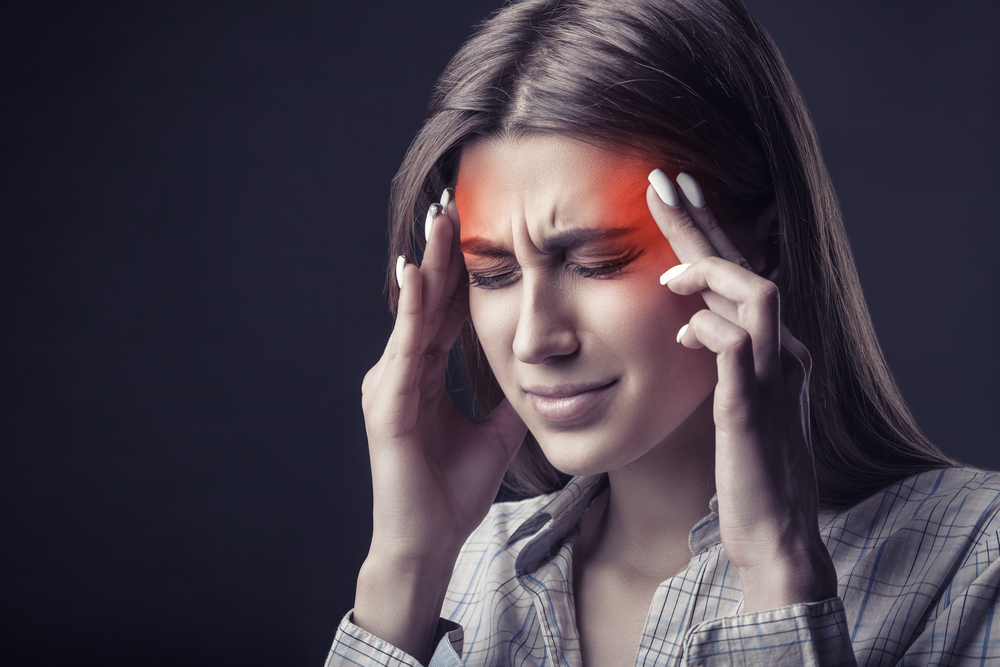 woman with severe migraine headaches